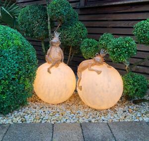 Kugelleuchte-Gartenkugel-Gartenlampe-Aussenlampe-Leuchtkugel-30-cm-Frosch