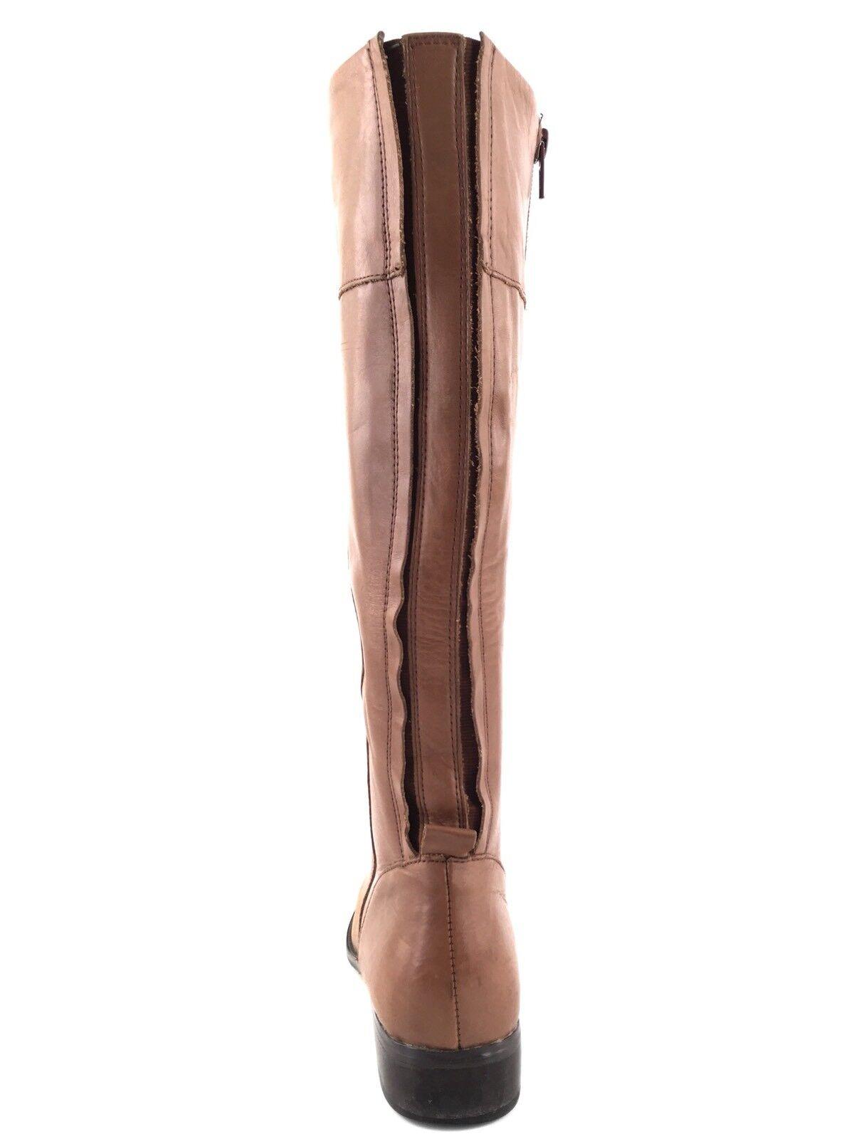 Corso Como Geneva Cognac Leder Knee High Riding Stiefel Damens Größe 6.5 M