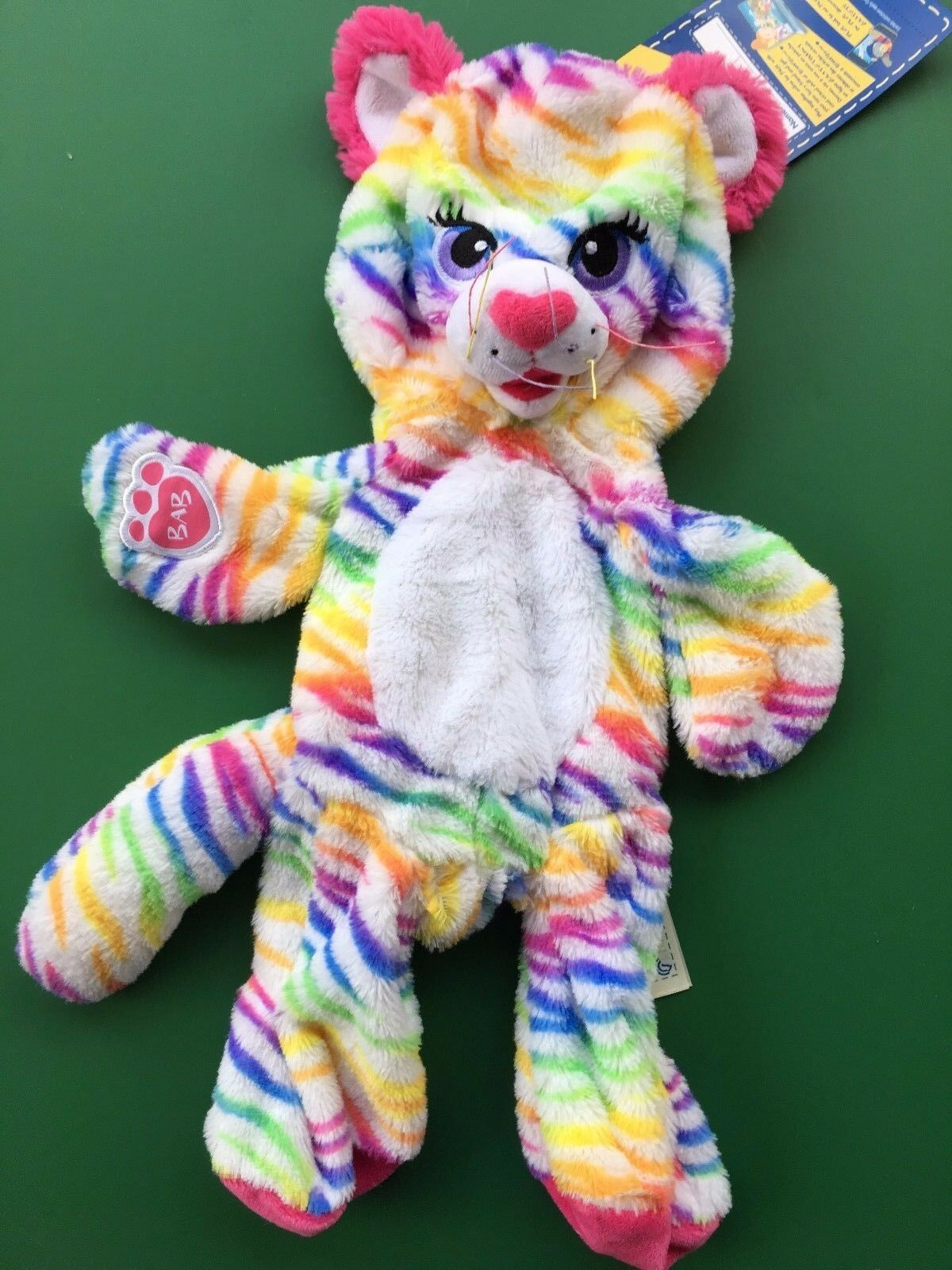 Build a Bear 17  Rainbow Stripes Tiger Plush Toy - Unstuffed - NWT