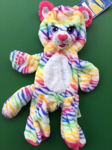 """NWT Unstuffed Build a Bear 17/"""" Rainbow Stripes Tiger Plush Toy"""