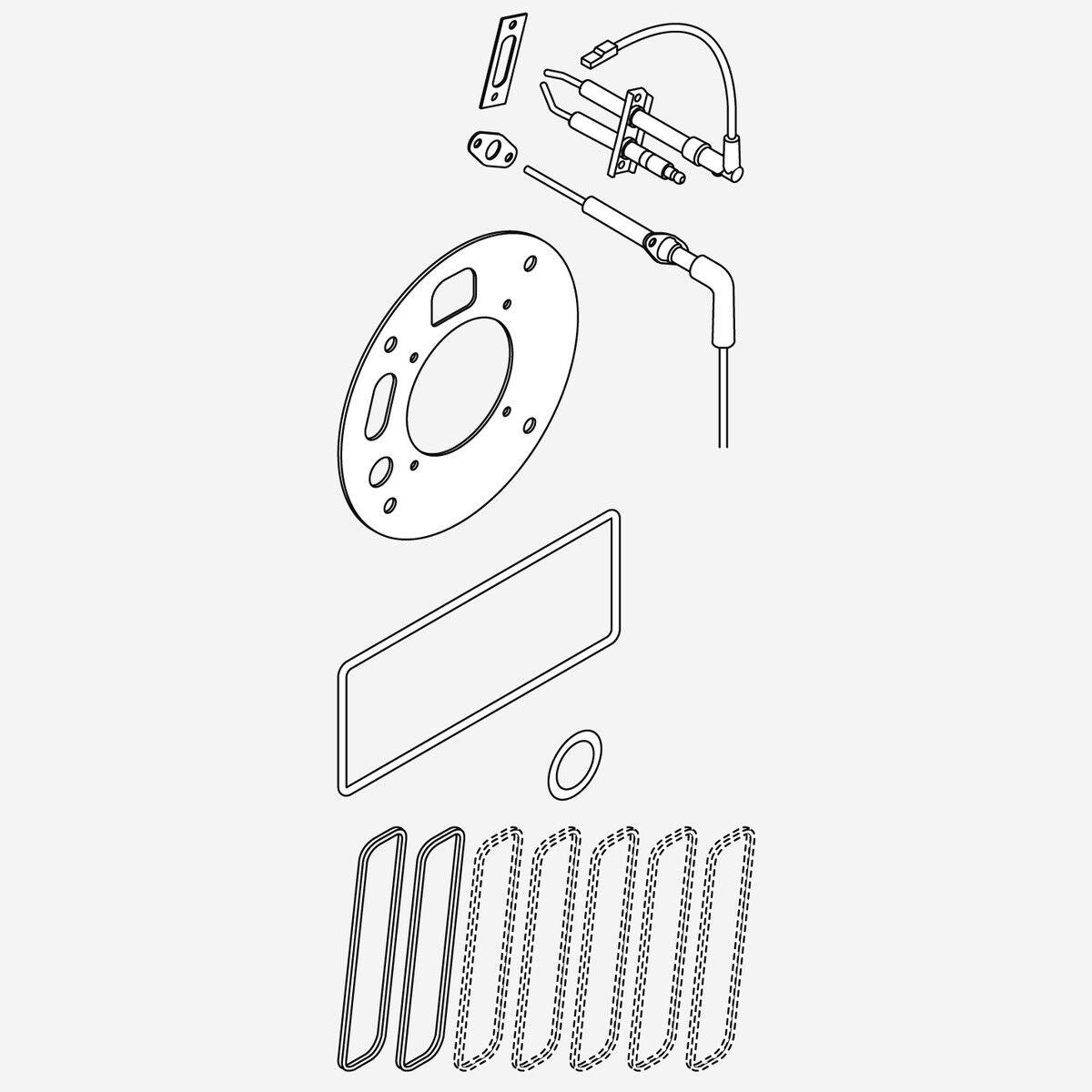 Weishaupt Wartungsset WTC  GB-210-A 48230100162 Brennerdichtung Zündelektrode Zündelektrode Zündelektrode Io 19d319