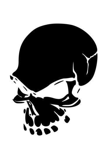 Haut Détail Crâne AIRBRUSH STENCIL-GRATUIT UK LIVRAISON