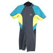 bd72486b2f item 1 Xcel 2mm Ilima Back Zip Springsuit Women s Size 10 Wetsuit Gray Blue  Lemon NEW -Xcel 2mm Ilima Back Zip Springsuit Women s Size 10 Wetsuit Gray  Blue ...