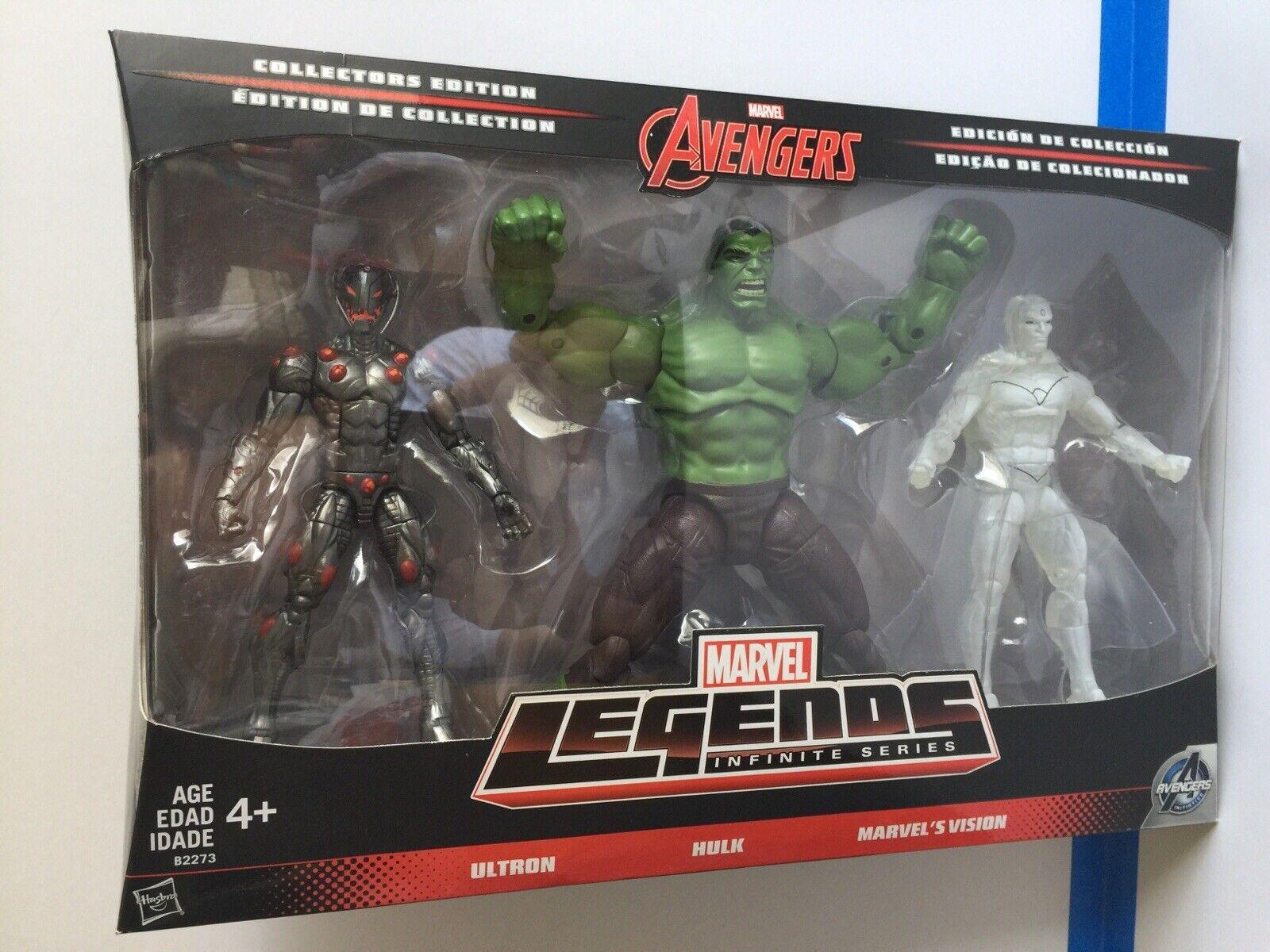 Marvel Avengers Marvel Legends Avengers Infinite Series 1 Ultron Hulk /& Marvels Vision 6 Action Figure 3-Pack Hulk /& Marvel/'s Vision 6 Action Figure 3-Pack Hasbro Toys