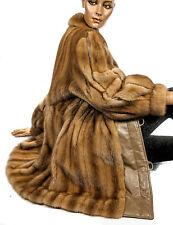 XL Nerzjacke Honig karamell Braun Zobel Farbe Nerz Leder Jacke mink fur jacket