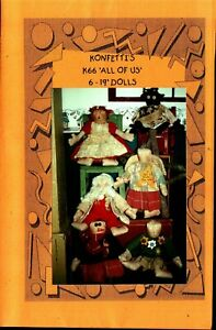 Konfetti-039-s-K66-All-of-Us-6-9-034-Dolls-Anne-Angel-USA-Snow-Sewing-Pattern-Uncut