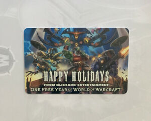 Rare-2011-BLIZZARD-WORLD-OF-WARCRAFT-Employee-Exclusive-Holiday-Gift-Card-WoW