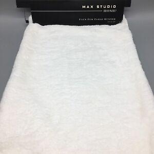 Max Studio Faux Fur Table Runner Soft