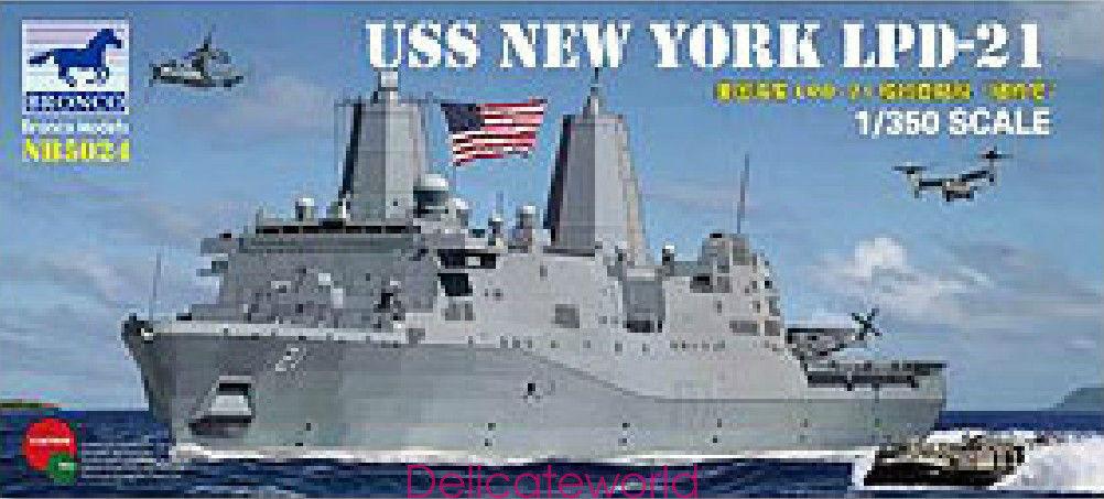 BRONCO 1 350 NB5024 USS NEW YORK LPD-21 PLASTIC MODEL KIT