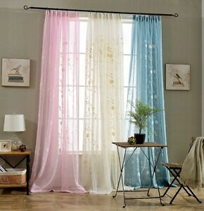 Image Is Loading Romantic Voile Curtains For Living Room Bedroom Kitchen