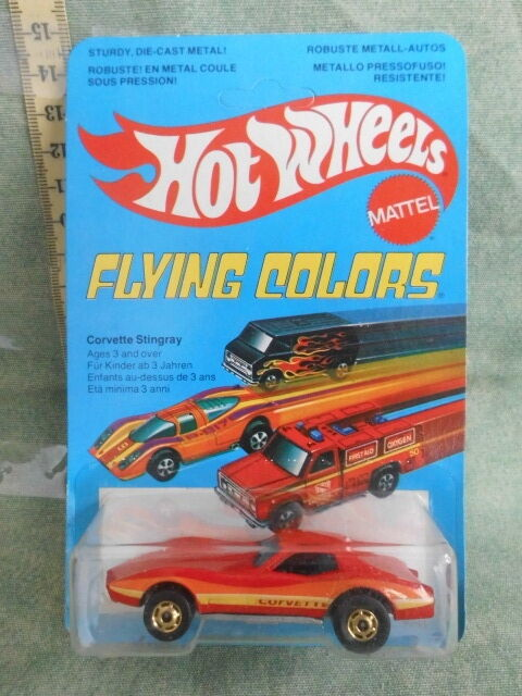 MATTEL HOT WHEELS FLYING CORVETTE STINGris COLORS 1979 TOY VINTAGE