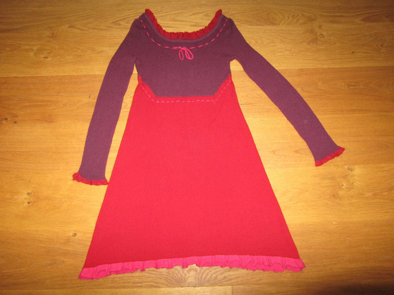63858cb0dd7fee Luxus Designer Kleid 100% Kaschmir Mongolei neuwertig Gr S bzw 36-38  nwinbg3456-Kleider
