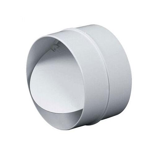 Verbinder Rückstauklappe Lüftungsrohr ABS Rundrohr Ø 100 125 150 mm Abluft-Rohr