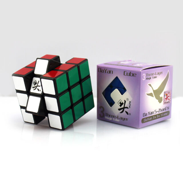 Dayan V 5 ZhanChi 3x3x3 Speed Cube Magic Puzzle Negro Suave y Rápido 5.7cm