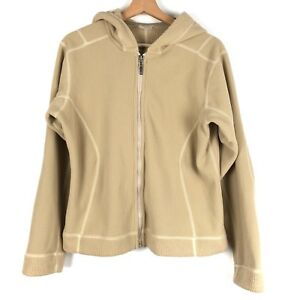 online store 64343 93bc3 Details about PATAGONIA womens fleece jacket Medium tan brown hoodie ribbed  o1115
