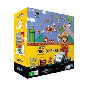 Nintendo-Wii-U-Super-Mario-Maker-Console-Bundle-NEW-Warranty