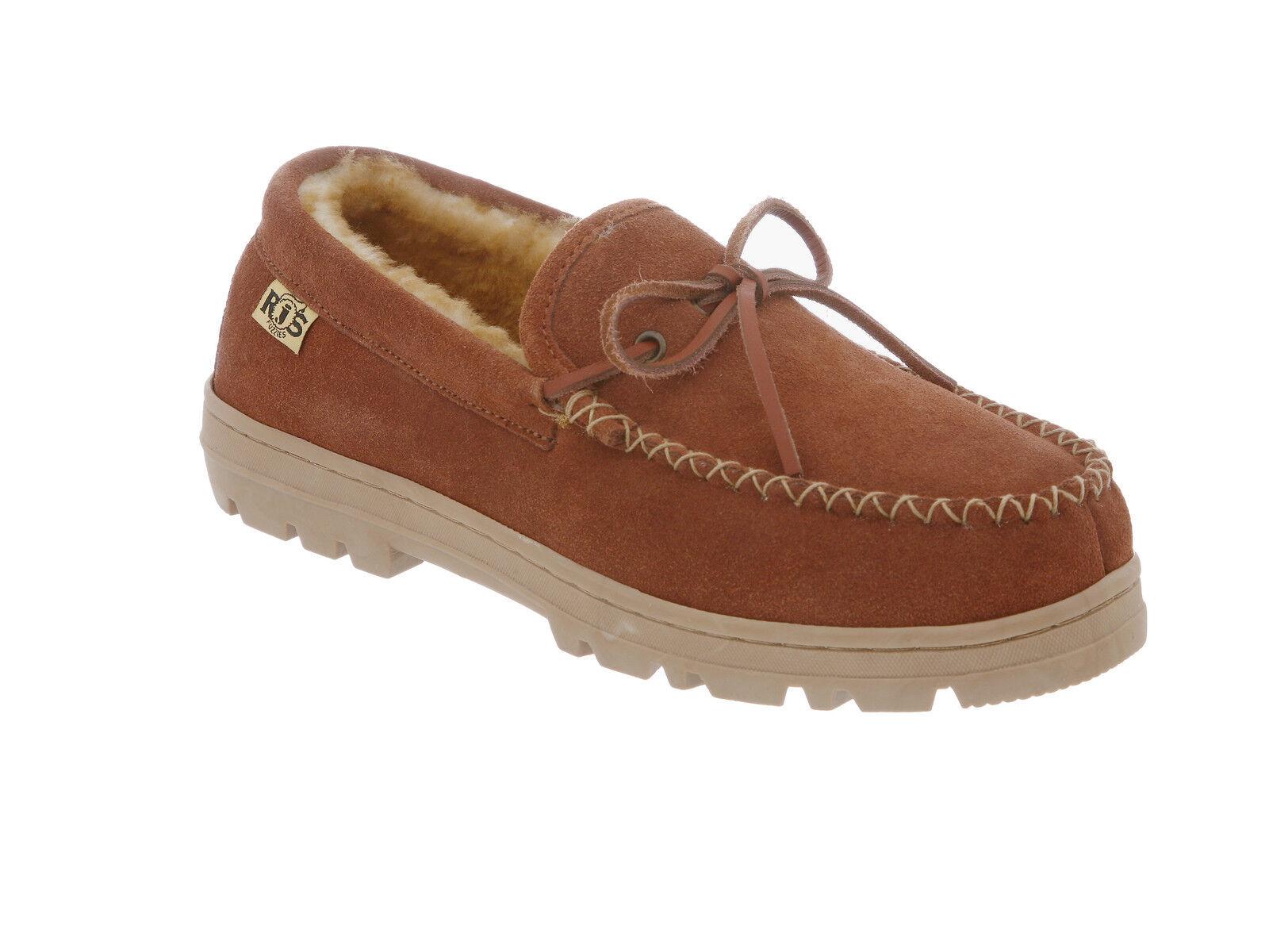 Rj'S Sheepskin Uomo Loafer Trekker Moc Loafer Uomo Slip-on  Chestnut Medium (D, M) 9d3a97