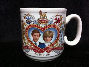 Churchill England HRH PRINCE CHARLES & LADY DIANA SPENCER 1981 Wedding Mug Di
