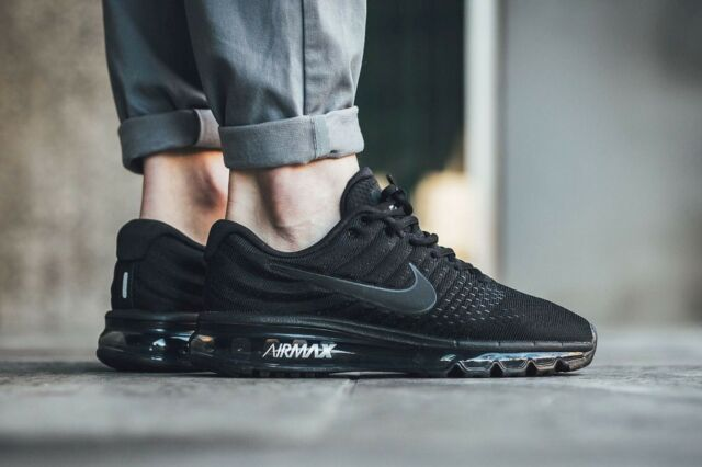 buy popular c5377 be5c5 Nike Air Max 2017 849559-004 Black Black Black Mens Sz 7