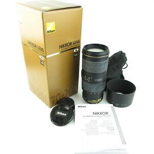 Nikon-AF-S-Nikkor-70-200mm-1-4G-ED-VR-Objektiv-lens-caps-hood-und-Anleitung