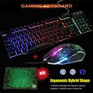 Laptop-T6LED-Rainbow-Backlight-Usb-Ergonomic-Gaming-Keyboard-and-Mouse-SeKTPCRI