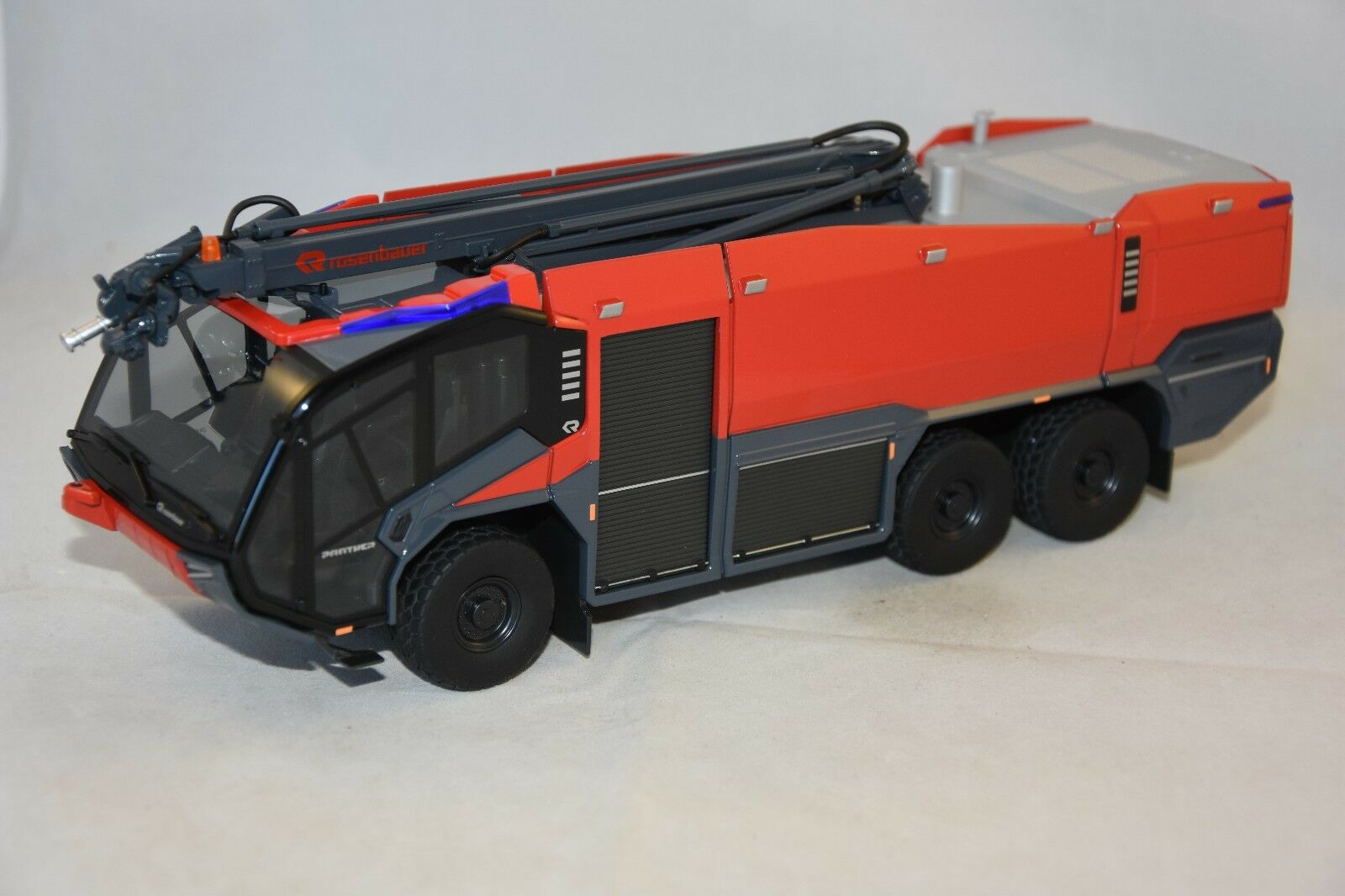 Wiking WIKING7614 - PANTHER ROSENBAUEUR FLF 6X6 AVEC TOURELLE ESCA Pompiers 1 43