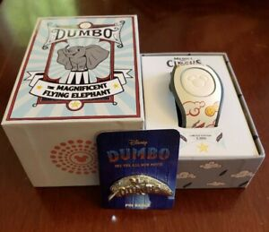Disney-Parks-Magicband-2019-Dumbo-Live-Action-Movie-LE-2000-RARE-BONUS-PIN