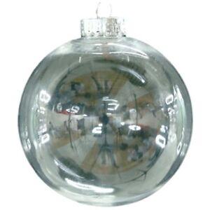 Fai-DA-TE-chiaro-Palline-di-Plastica-Albero-Natale-Sfera-Home-Decor-Regalo-80mm-QTY-4-W7V9
