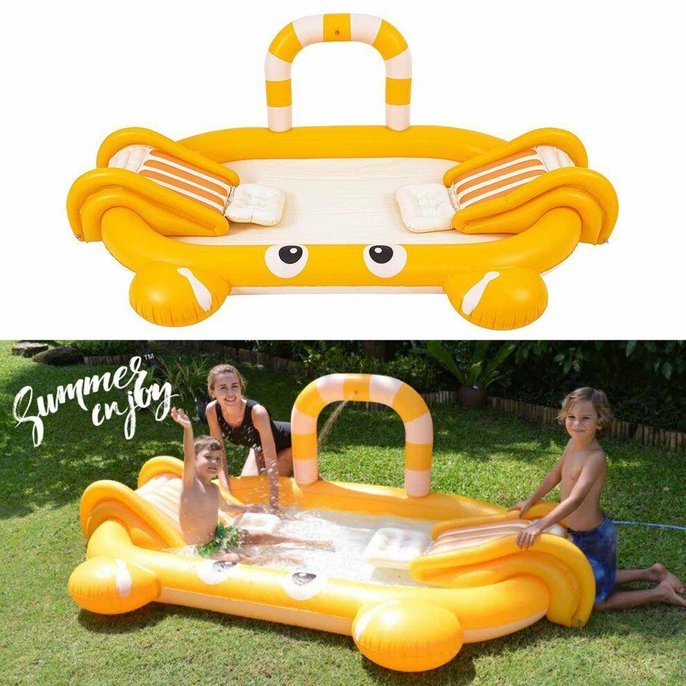 Inflatable Pool Crab Snakes & Splashback 239 X 150 X 78 CM Garden 3435