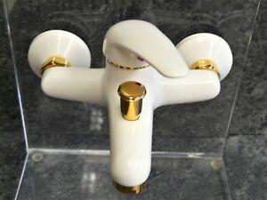 Rubinetto Vasca Da Bagno : Rubinetteria vasca da bagno bianco oro 24 carati miscelatore