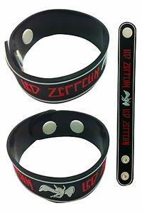 "LED ZEPPELIN NEW! Rubber Bracelet Wristband aa32 Black ""Whole Lotta Love"""