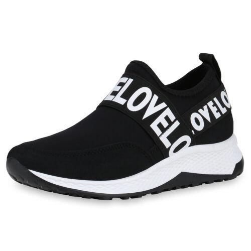 Damen Sportschuhe Slip Ons Fitness Sneaker Logo Print Laufschuhe 826382 Schuhe