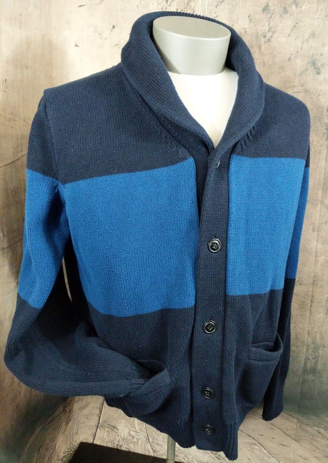 J. Crew   Men's Cotton Cardigan Sweater   bluee   XL B31