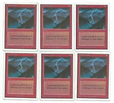 Magic MTG Unlimited Lightning Bolt Red Rare Gathering MoxBeta_com