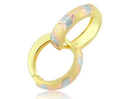 Pargold 14 Karat Gold Tricolor Creolen Ohrringe 585er Echt Gold Ohrringe 14ct   eBay