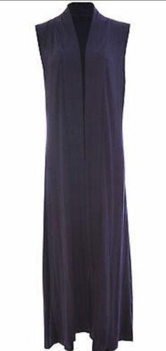 MH Womens Ladies Sleeveless Long Waistcoat Open Boyfriend Maxi Summer Cardigan