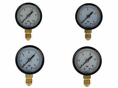 MEGA Druckmanometer Heizung 1//4 Zoll Anschluss nach Unten Radial Ø 63 mm