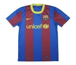 Barcelona 2010-11 autentico di Base Maglietta (eccellente) S Soccer Jersey