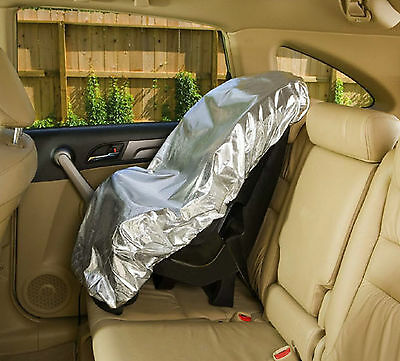 mum's help silver UV protect sun-proof heat shield Baby Kids car safe seat cover
