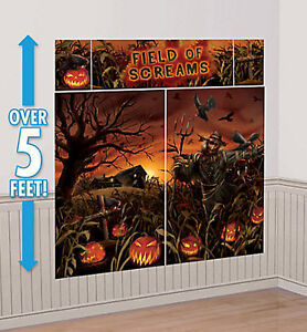 image is loading haunted cornfield scene setter halloween party wall decoration