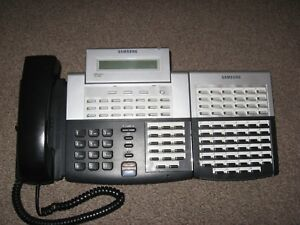 Samsung Officeserv 38 Button Handset with 64 Button AOM