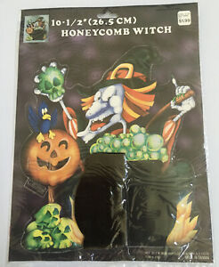 Vintage-Halloween-Honeycomb-WITCH-10-5-Woolworth-New-In-Package
