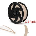 2Pcs 3D Printer Filament 1.75mm PLA 1kg For Drawing Print Pen MakerBot Wooden UE