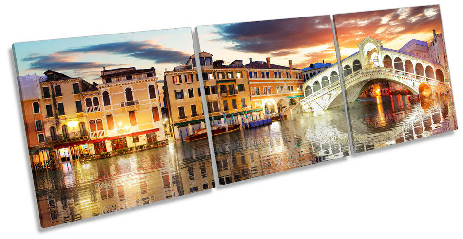 Venice Rialto Bridge  TREBLE CANVAS WALL ART Box Frame Print