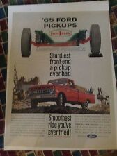 Original 1965 Ford Pickup Magazine  Ad -  Smoothest Ride You've Ever Tried