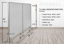 Gof Wall Mounted Office Partition Divider 84w X 48h 84w X 60h 84w X 72h
