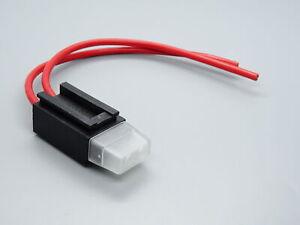 5x KFZ Sicherungshalter 1,0mm²  30A Flachsicherungen Standard