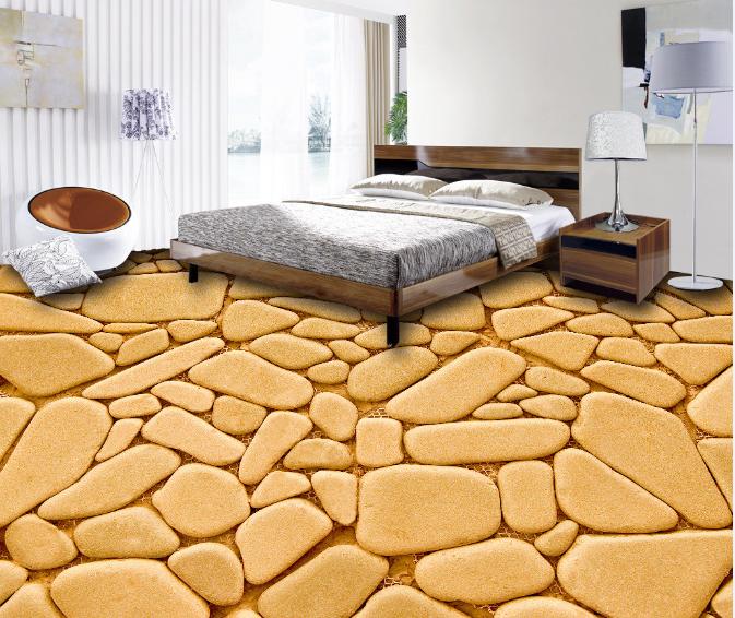 3D Gelb Stones Art 4 Floor WallPaper Murals Wall Print Decal AJ WALLPAPER US