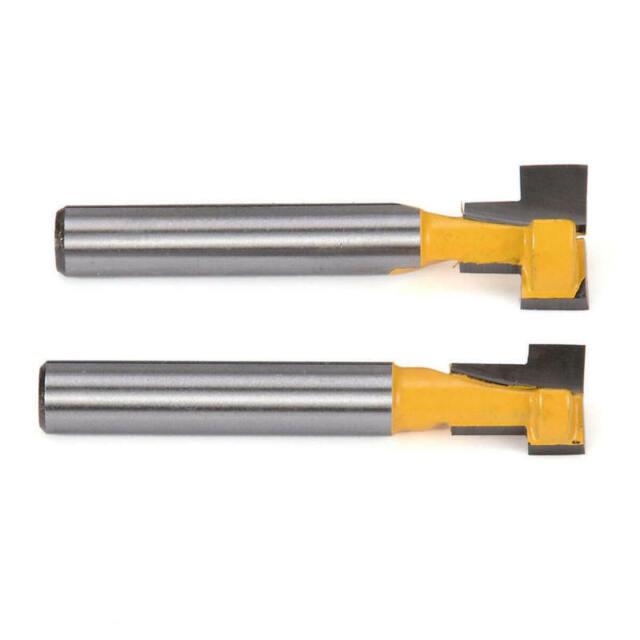 "3 NEW  3//8/"" D Keyhole Carbide Tipped Router Bit 1//4/"" Shank 1 Flute qw"