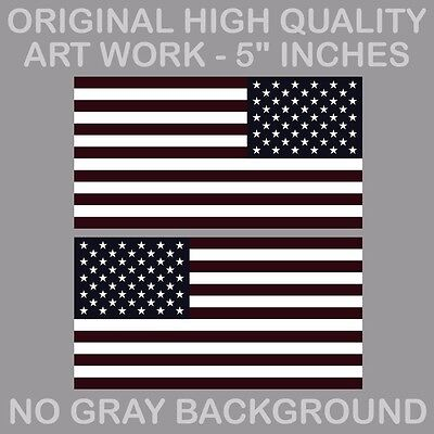 Distressed Red line American Flag Sticker Decal Subdued CHOOSE SIZE TatRline